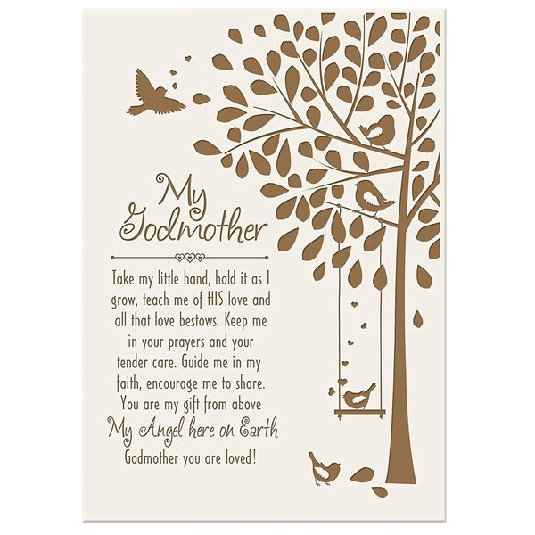 Gifts for Godmother Wall plaque 6x8
