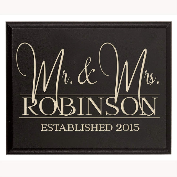 Personalized Mr & Mrs Wedding Gift for Couple, Custom Mr & Mrs sign with Established Dates to Remember By LifeSong Milestones