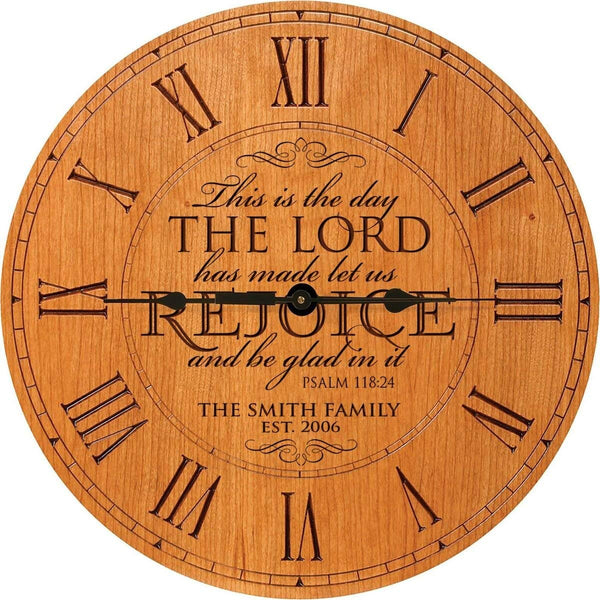 This is the day the Lord Anniversary Cherry Clock