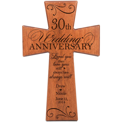 Personalized 30th Wedding Anniversary Cherry Wall Cross Love You Still