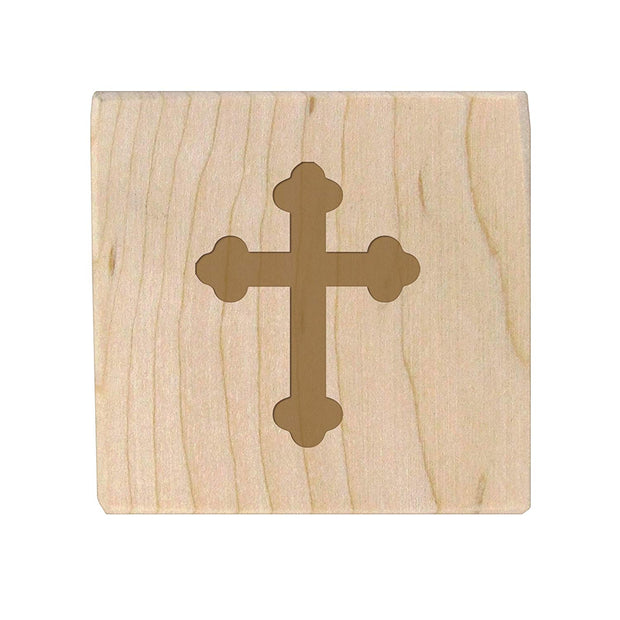 Personalized Baby Dedication Maple Blocks - May God Bless You