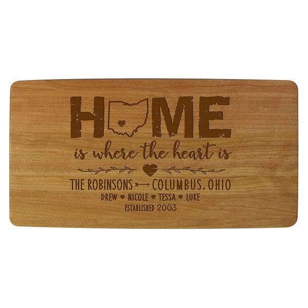Personalized Cherry Cutting Board - Welcome To Our Home