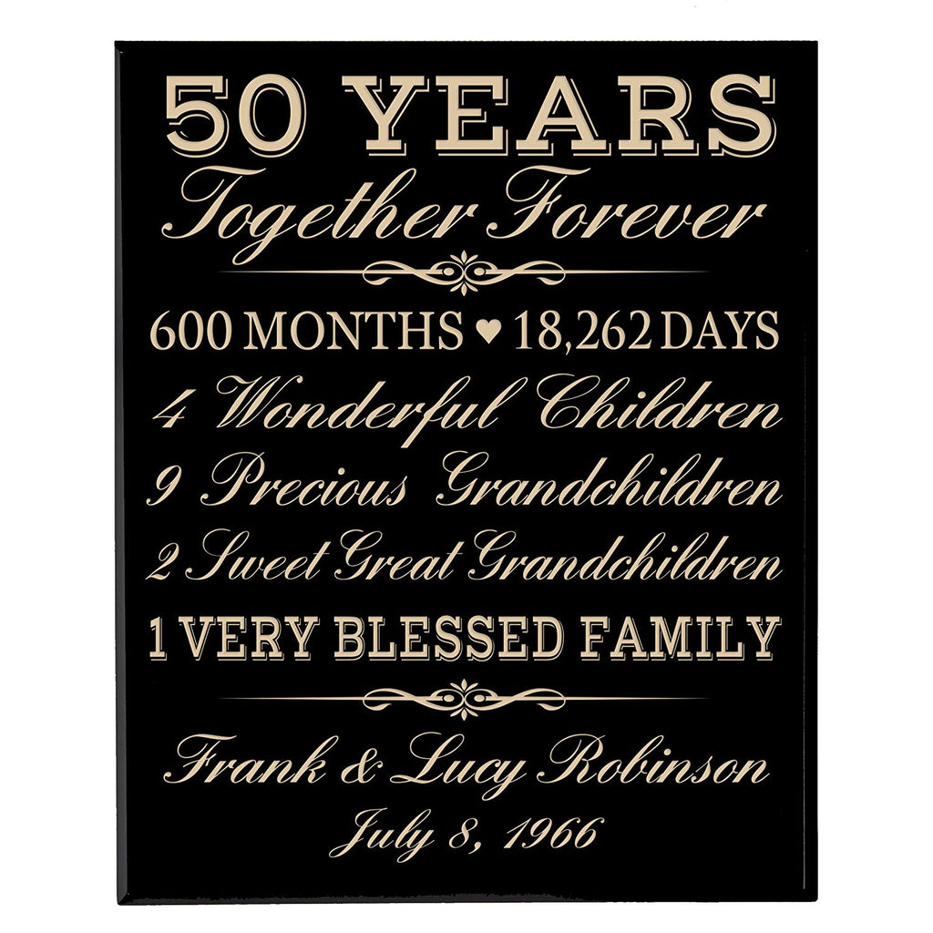 personalized 50th anniversary gifts for him her couple parents