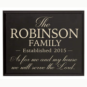 Personalized Family Wall Décor Plaque
