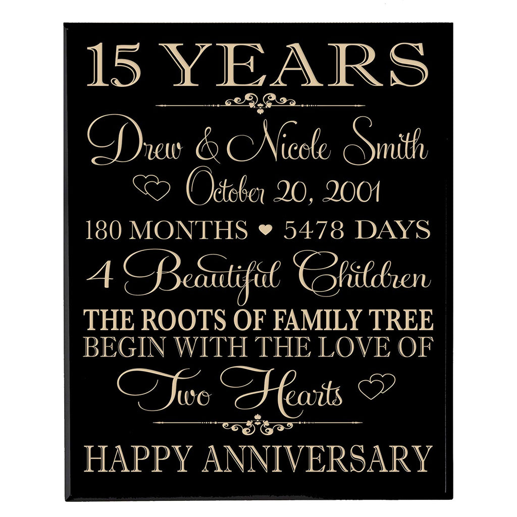 personalized 15 year anniversary gift for couple,15th wedding gift