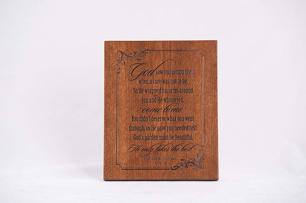 Memorial Wall Plaque Gift