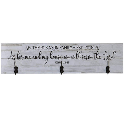 Personalized As For Me And My House Coat Rack Wall Sign