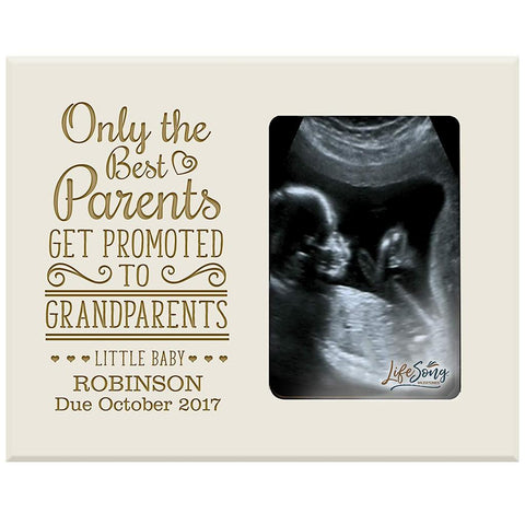Personalized Baby Sonogram Photo Frame - Promoted to Grandparents