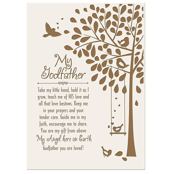 Gifts for Godfather Godparents Wall plaque 6x8