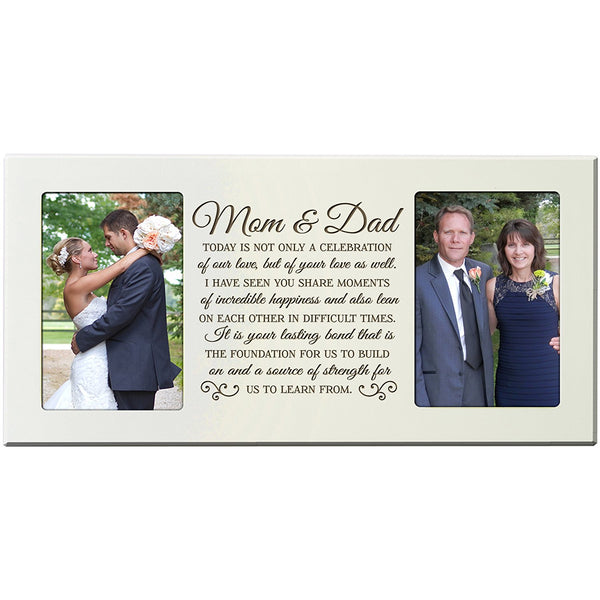LifeSong Milestones Wedding Gift, Personalized wedding picture frame gift for Bride and Groom, Personalized wedding gift for parents, Mom and Dad thank-you gift Exclusively from