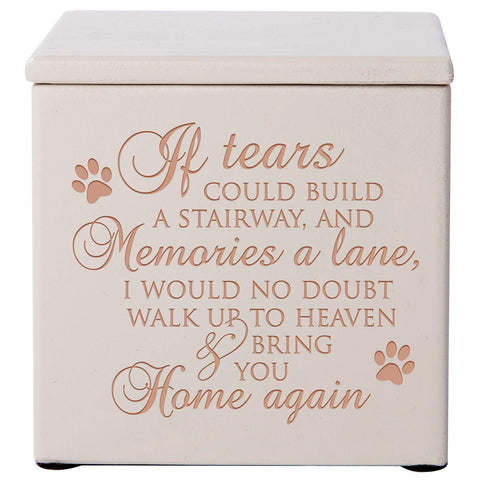 Cremation Urns for Pets Memorial Keepsake box for Dogs and Cats, Urn for pet ashes If Tears could build a stairway and Memories a lane by LifeSong Milestones