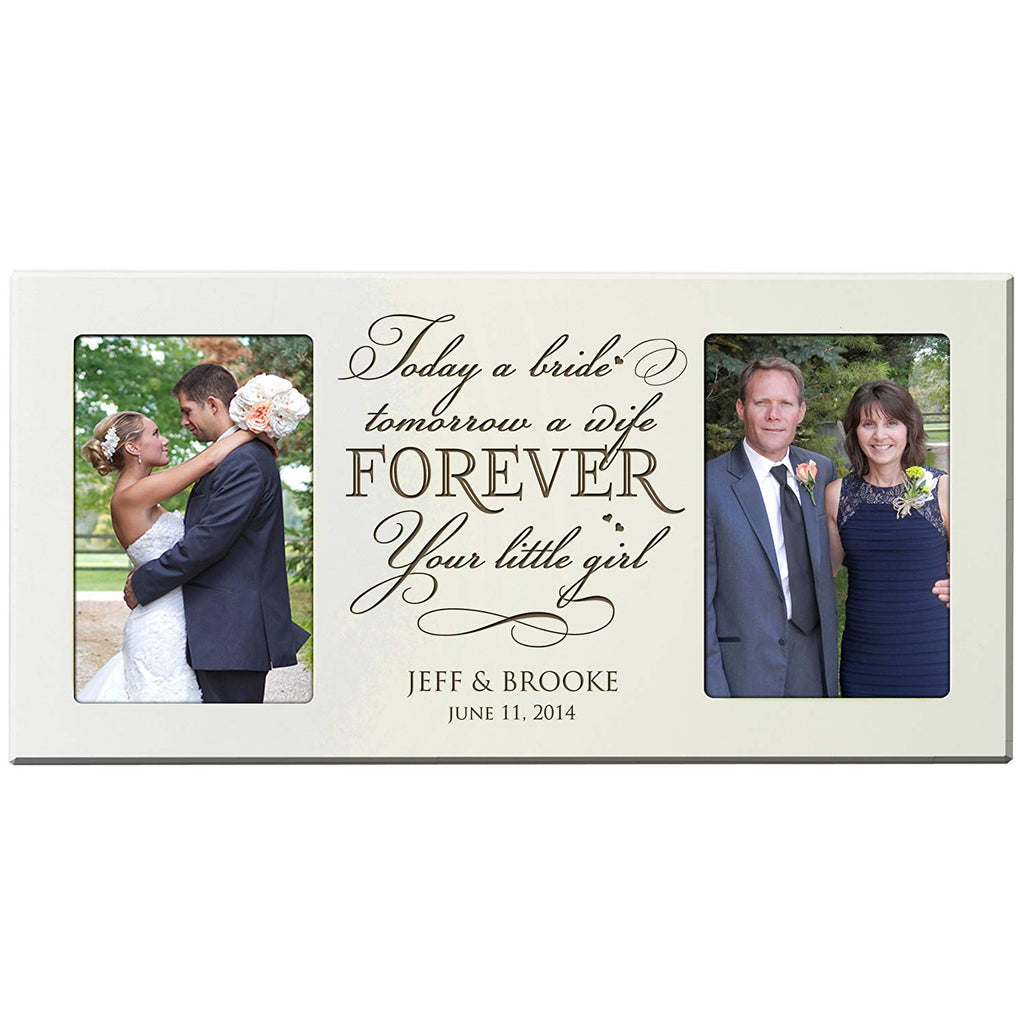 Personalized Wedding Picture Frame Gift For Parents Bride And Groom