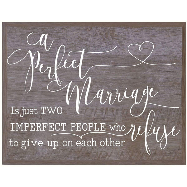 Wedding Wall Plaque - A Perfect Marriage barnwood