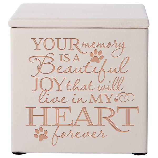 Engraved Cremation Urn/Memorial Keepsake Box for Pets – Your Memory Is A Beautiful Joy