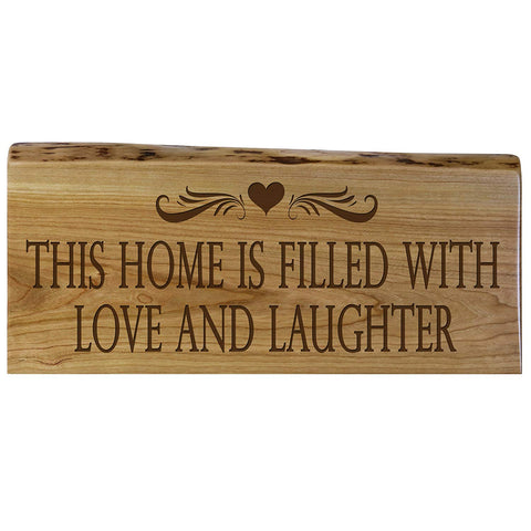 Family Gift Natural Cherry with Live Edge Wood Wall Plaque Wedding Gift Ideas By LifeSong Milestones