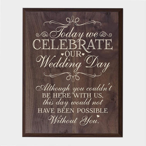 LifeSong Milestones Memorial gift for loss of loved one, Mother, Father, Wife, Husband, Son, Daughter Sympathy gift ideas wall plaque Wedding Day size 12 x 15