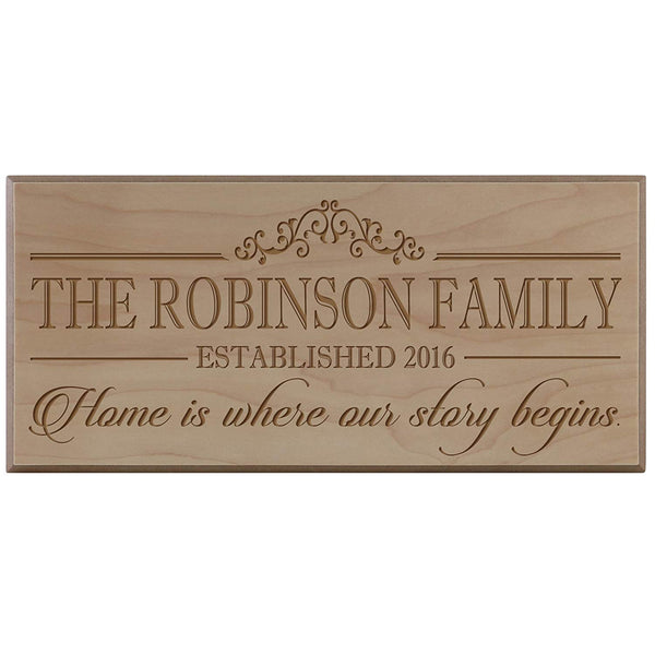 Personalized Family Established Date Sign
