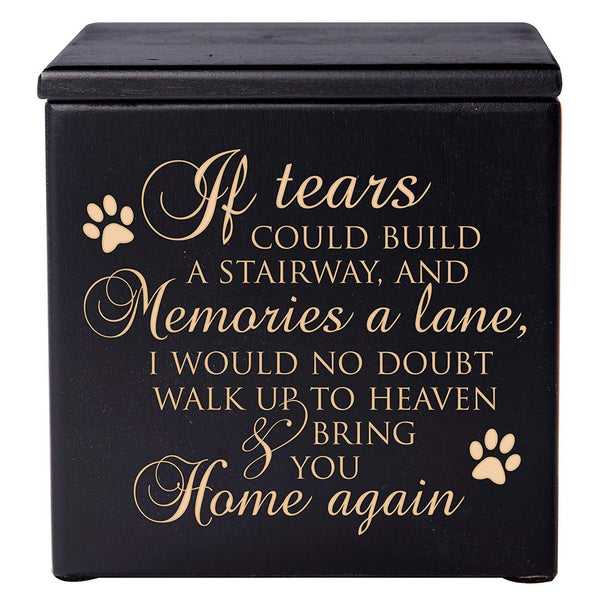 Pet Cremation Urn - If Tears Could Build Black