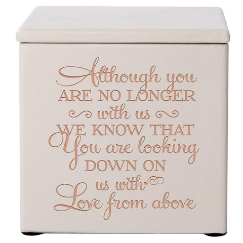 Cremation Urns for Human ashes -SMALL Funeral Urn Keepsake box for Pets - Memorial Gift for home or Columbarium We know you are looking down on us
