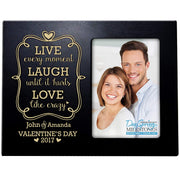 valentine's day gift frame picture black