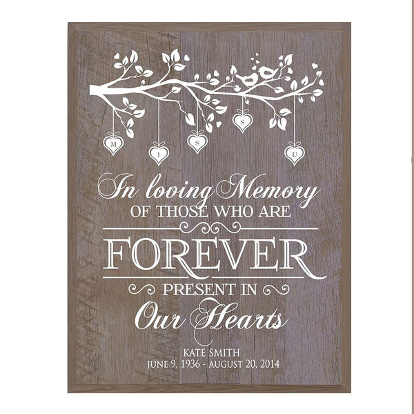 Memorial wall plaque Of Those Who Are Forever Tree size 12 x 15