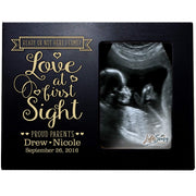 Personalized Baby Sonogram Picture Frame - Love At First Sight