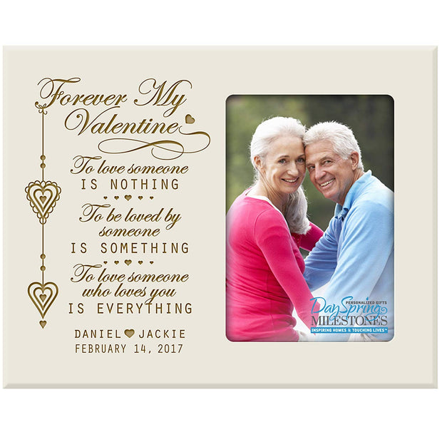valentine's gift anniversary frame picture photo ivory