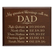 Personalized Hanging Wall Plaque For Dad - My Greatest Blessings