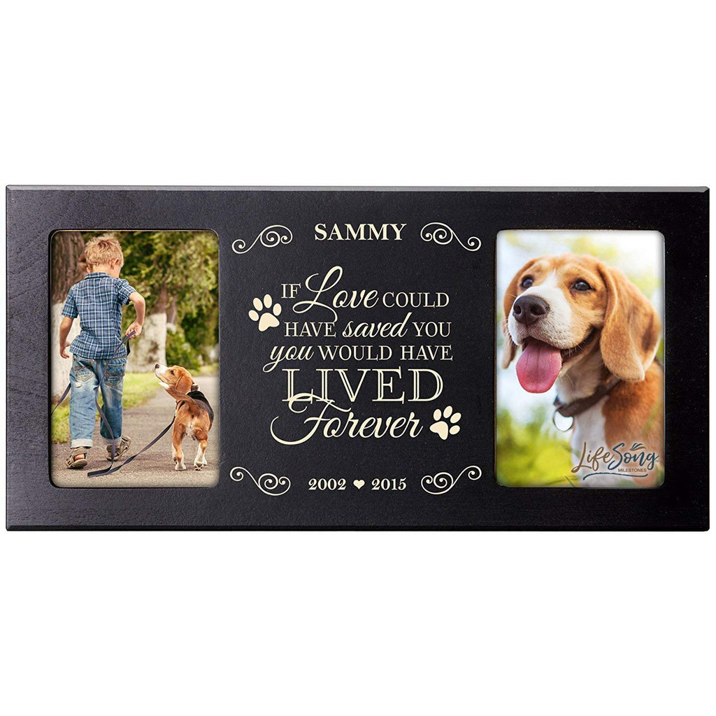 Personalized Pet Memorial Gift Sympathy Photo Frame If Love Could