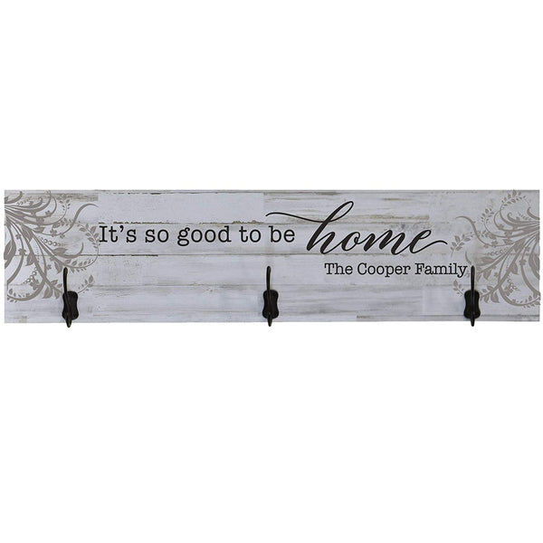 LifeSong Milestones Personalized Its Good To Be Home Family Established Date Wall Signs Custom Last Name for home Wedding, Anniversary, Living Room, Entryway, Kitchen, Bedroom