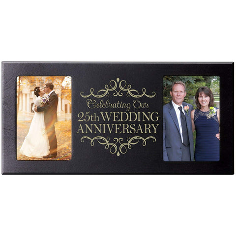 LifeSong Milestones 25th Anniversary Gift for Couple 25th Anniversary Picture Frame Celebrating Our 25th Wedding Anniversary
