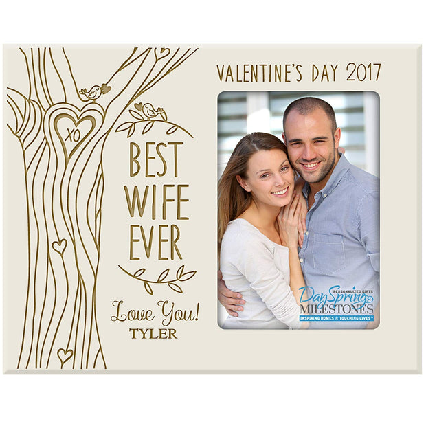 valentine's day best wife ever frame ivory
