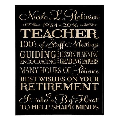 retirement gift for women men dad mom plaque sign wall decor hanging black maple