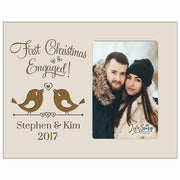 Personalized Home Christmas Bird Design Photo Frame Holds 4x6 Photograph