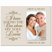 Personalized Valentine's Day Photo Frame - I Have Found The One Ivory