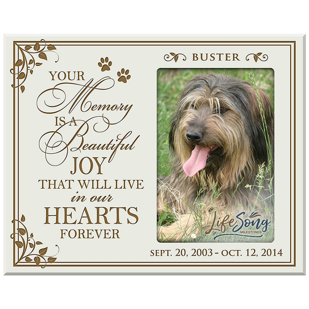 LifeSong Milestones Personalized Pet Memorial Gift, Sympathy Picture F