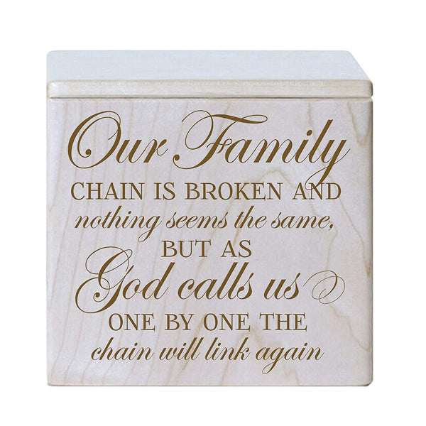 Small Adult Cremation Urn - Our Family Chain