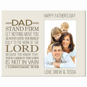 father's day gift picture frame for dad photo frame foto ivory