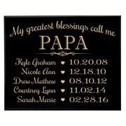 Personalized Children's Name's Wall Plaque - Papa