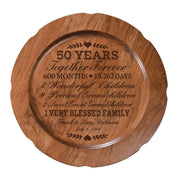 50th Wedding Anniversary Personalized Plate