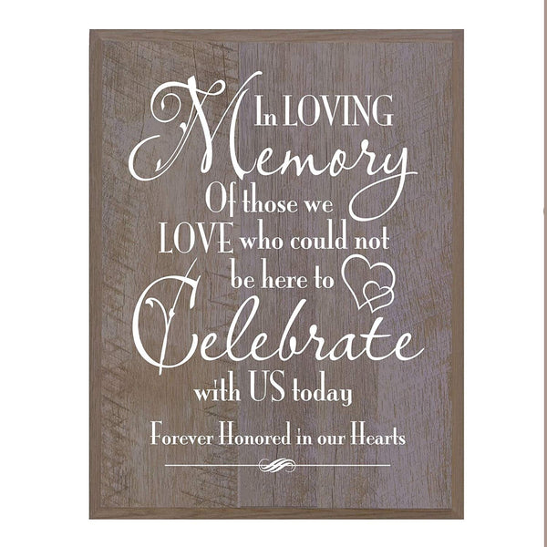 Memorial wall plaque In Loving Memory size 12 x 15