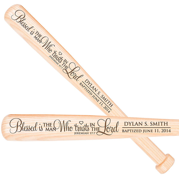 Personalized Baptism 1st Holy Communion Baseball Bat - Blessed