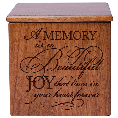 Cremation Urns for Human ashes - Funeral Urn small Keepsake box for Pets - Memorial Gift for home or Niche Columbarium A Memory is a beautiful Joy by LifeSong Milestones