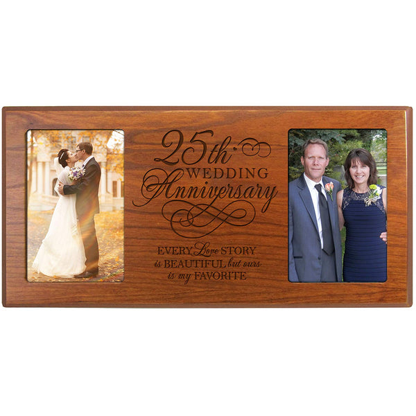 LifeSong Milestones Every Love Story Is Beautiful but Our Is My Favorite 25th Anniversary Gift for Couple 25th Anniversary Picture Frame Celebrating Our 25th Wedding Anniversary (Black)