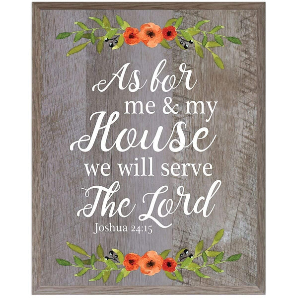 plaque sign board inspirational christian serve the Lord Joshua 24:15 barnwood