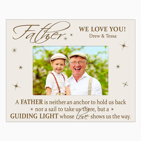 LifeSong Milestones Personalized Gifts for dad Engraved birthday gifts for dad Custom picture frame Father a guiding light