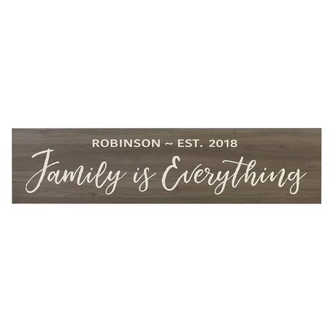 Family Is Everything Wooden Wall Sign Art Size 10 x 40
