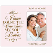 Personalized Valentine's Day Photo Frame - I Have Found The One Pink