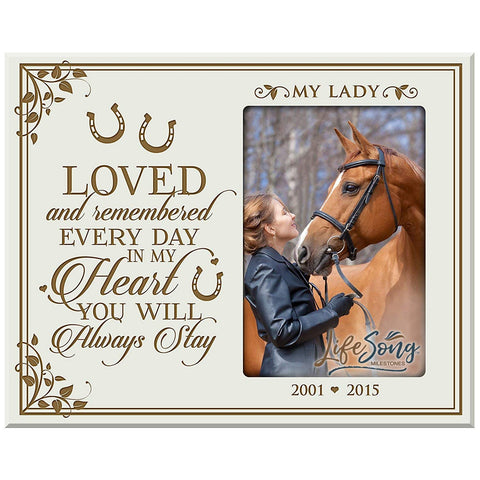 Custom Wooden Memorial 8x10 Picture Frame for Pet holds 4x6 photo Loved And Remembered