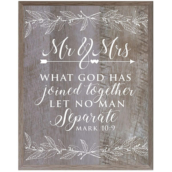Mr & Mrs Christian inspiration plaque sign board home decor Mark Barnwood